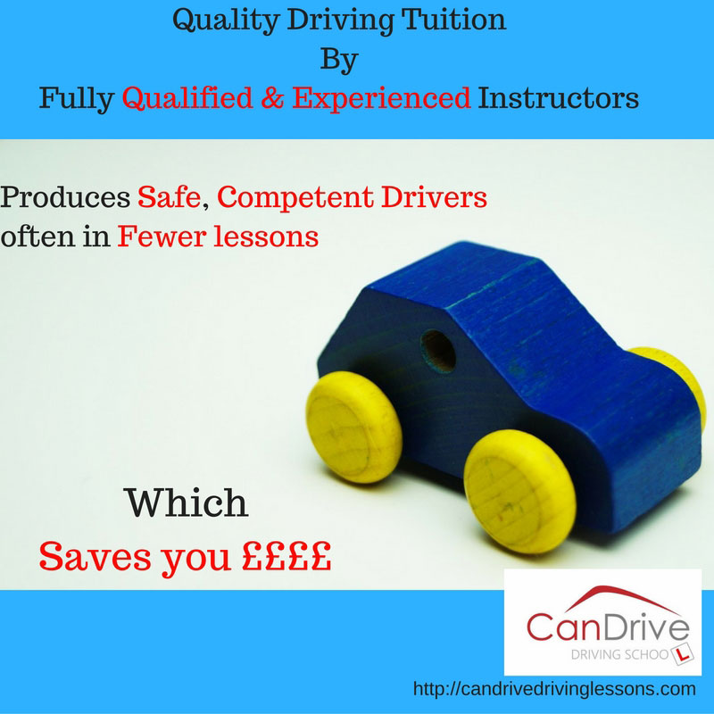 Quality driving tuitions by fully qualified instructors can save you money / By Can Drive.