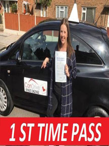 First time pass for driving lessons in Forest Town with Can drive