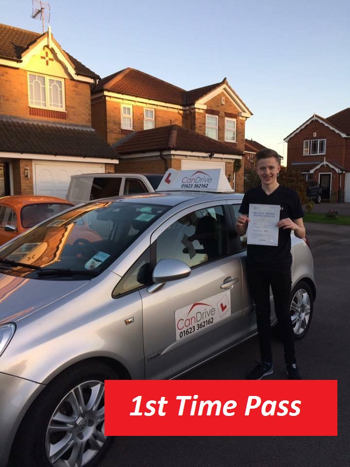 Jack Gibson passing his test today