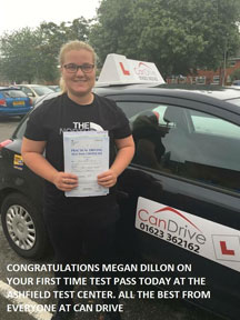First time pass in Shirebrook with Can Drive