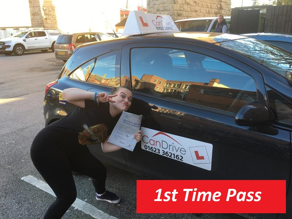 Victoria Dunstan passing her test with Can Drive