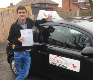 Another Can drive Test Pass this time for Cody Gilbey