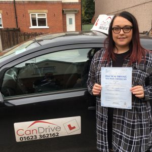 Driving Test PAsses with Can Drive Drving School in Mansfield and Sutton in Ashfield